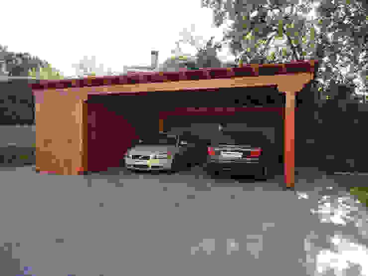 Mái che nhà xe theo Pergomadera Pérgolas y Porches de madera,