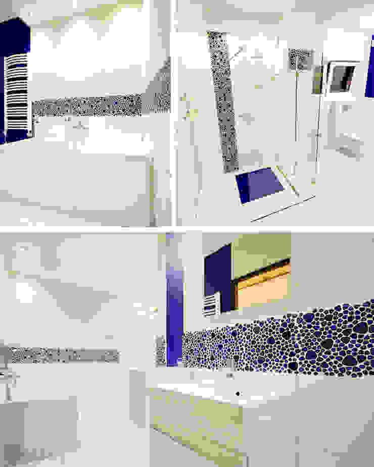 Biel i atrament Nowoczesna łazienka od Bednarski - Usługi Ogólnobudowlane Nowoczesny