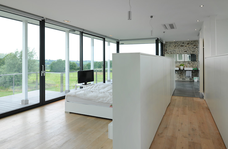 Réalité Chambre moderne par Luc Spits Interiors Moderne