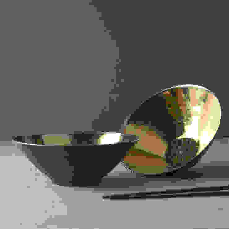 Metallic Bronze Ceramic Soup Bowls by Nom Living Iндустріальний