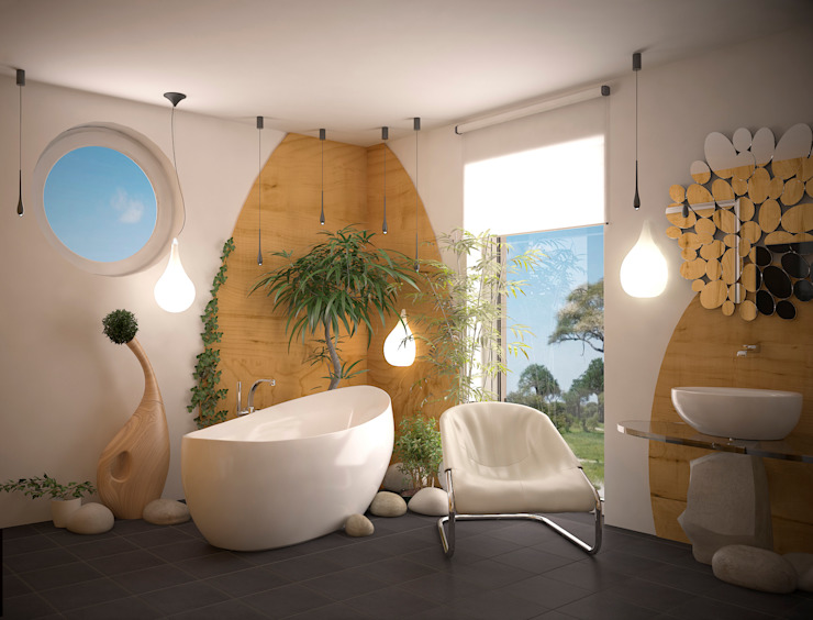 Инна Меньшикова Tropical style bathroom