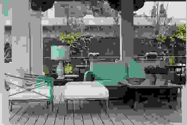 estar porche Jardines de invierno de estilo mediterráneo de La Californie Mediterráneo