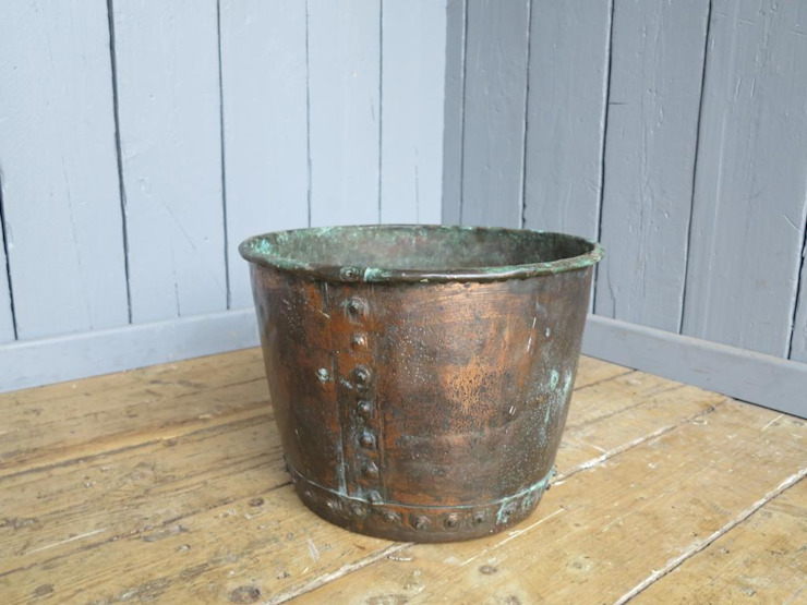 Copper Pot ideal for log storage : industrial  by UKAA | UK Architectural Antiques , Industrial