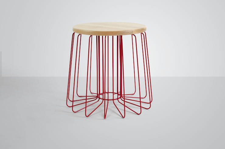 Wire Stool: industrial  by And Then Design Limited, Industrial