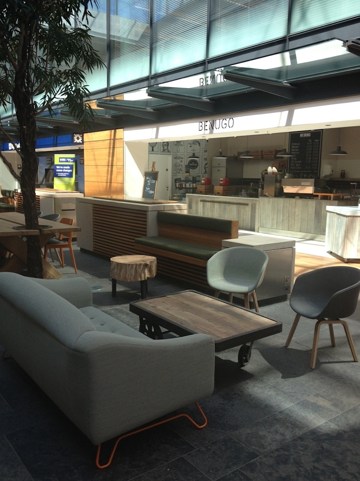 Benugo Cafe - RBS Edinburgh Spazi commerciali moderni di And Then Design Limited Moderno