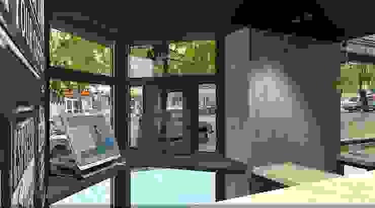 Кафейня <q>ЕДИСОН</q> г. Кривой Рог от дизайн-студия 'КВАДРАТ' Лофт