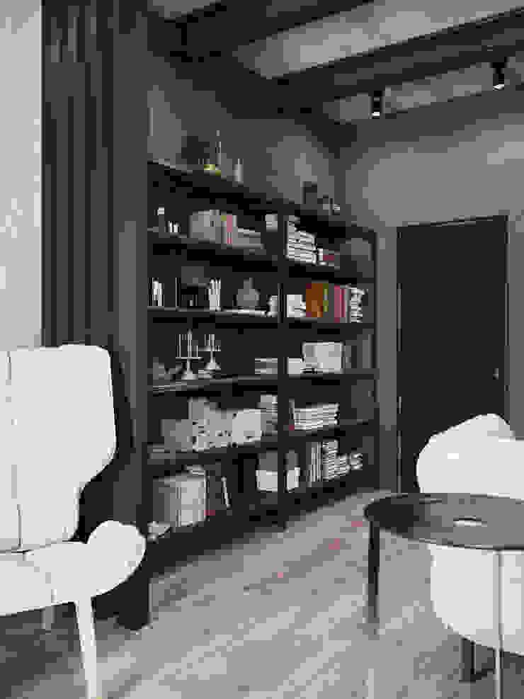 Квартира в стиле пост-модерн Рабочий кабинет в стиле лофт от Denis Krasikov Лофт