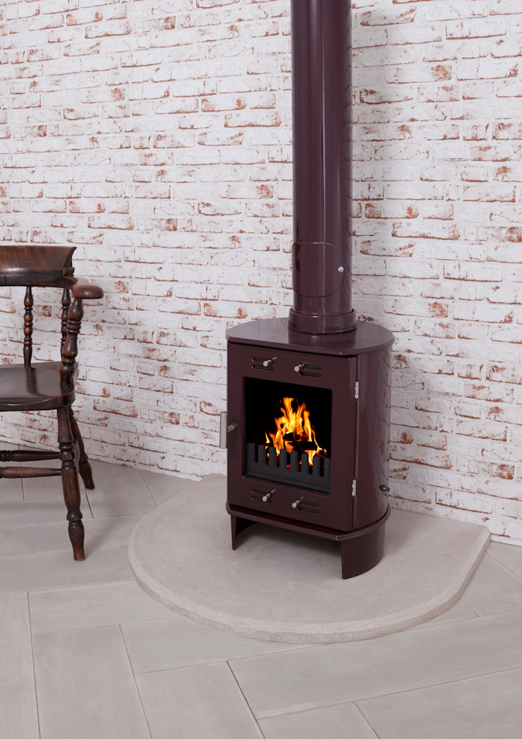 Dante Carron Enameled Stove 5kw : modern  by UKAA | UK Architectural Antiques , Modern
