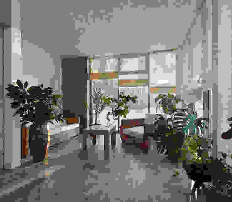 Зимний сад, прекрасный вид из окна от Baydyuk Design Company Минимализм