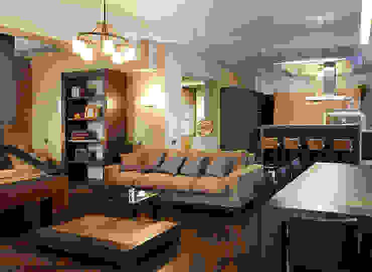 Мягкая зона гостиной от Baydyuk Design Company Минимализм