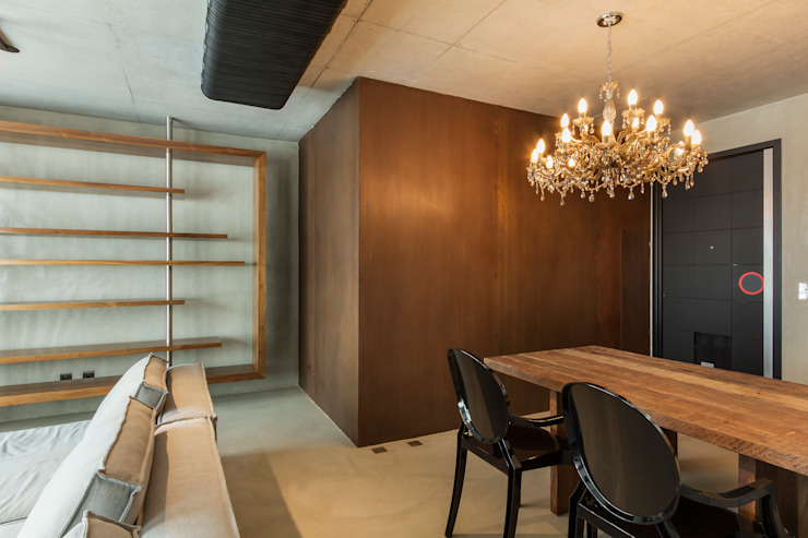 Urban Loft Salas de jantar modernas por Studiodwg Arquitetura e Interiores Ltda. Moderno