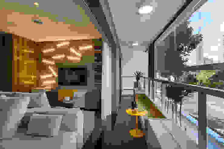 Studiodwg Arquitetura e Interiores Ltda. Moderne Wohnzimmer