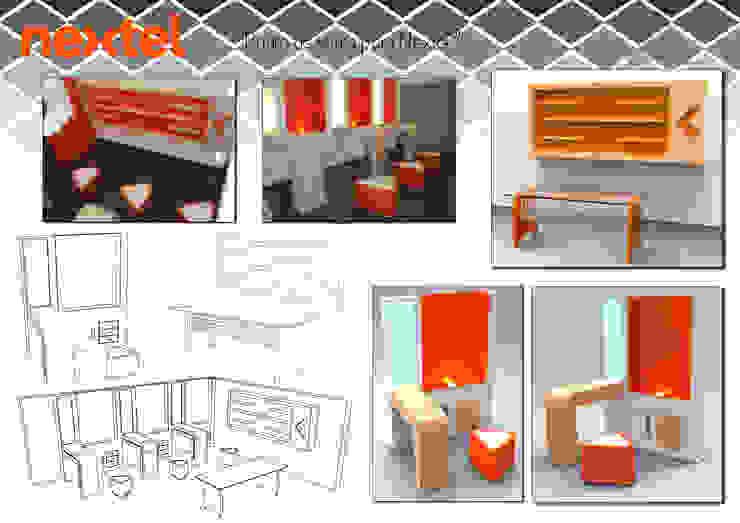 "conjunto de mobiliario ""Nextel"" de Armatoste studio Moderno"