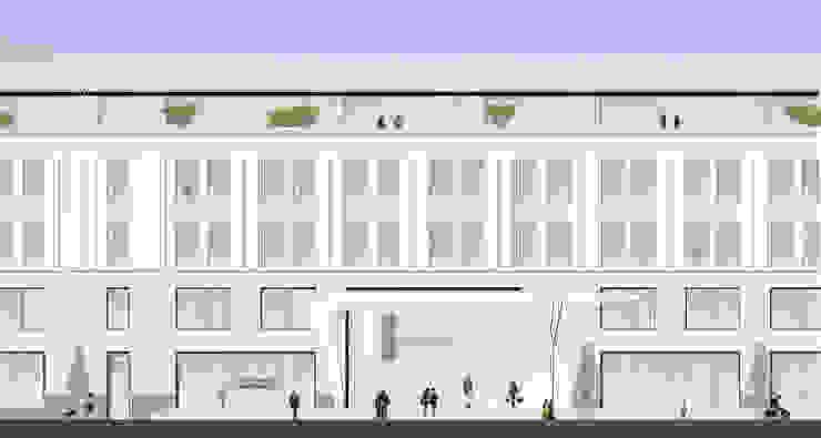 Hauptfassade Uferpromenade Ulitsa Gorkogo von Achtergarde + Welzel Architektur + Interior Design