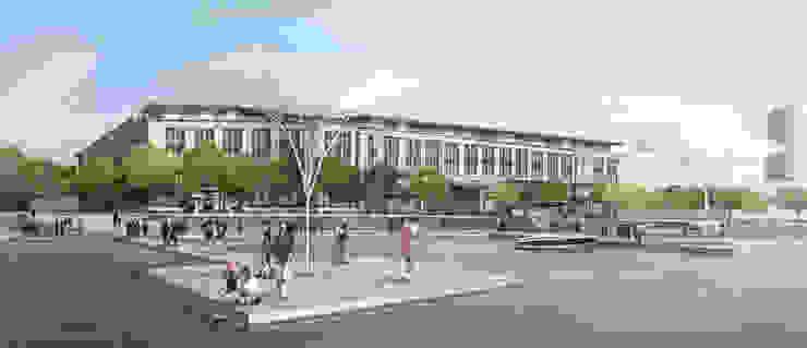 Außenperspektive Uferpromenade von Achtergarde + Welzel Architektur + Interior Design