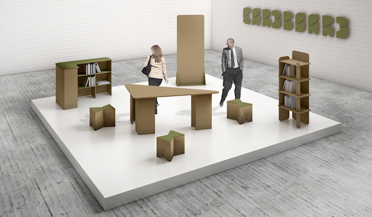 STANDS DISEÑO PERSONALIZADO Salones de eventos de estilo moderno de CARDBOARD FURNITURE AND PROJECTS Moderno