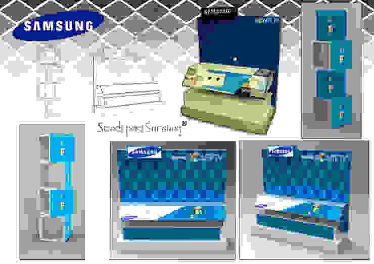 """exhibidor para televisor """"Samsung"""" de Armatoste studio Moderno"""