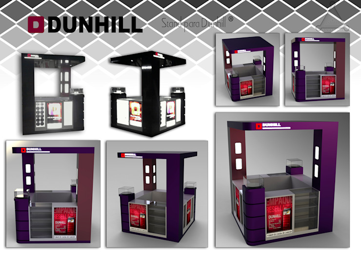 """stand para cigarrillos """"Dunhill"""" de Armatoste studio Moderno"""