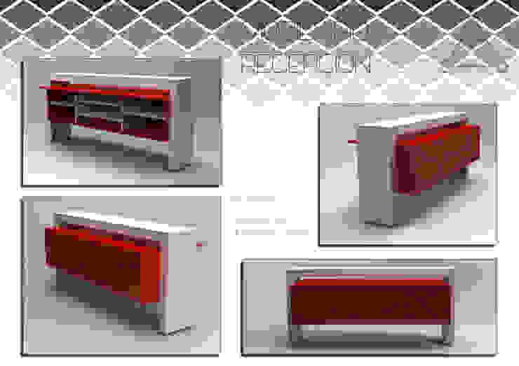 escritorio recibidor de Armatoste studio Minimalista