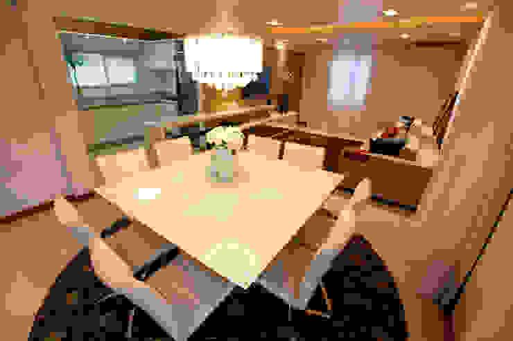 Casa AS- Joinville/SC – Estúdio Kza Arquitetura e Interiores Salas de jantar modernas por Estúdio Kza Arquitetura e Interiores Moderno