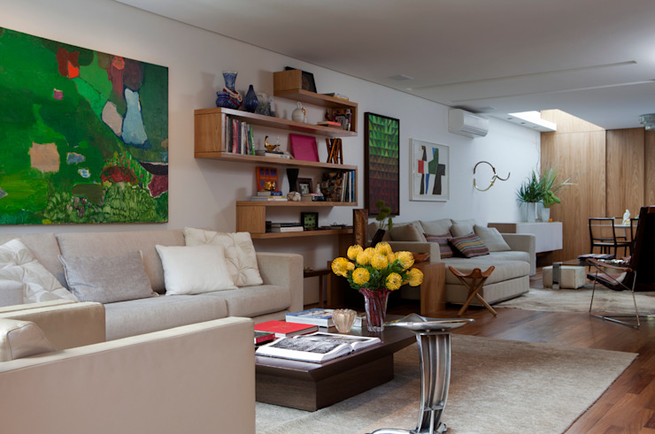 Casa de Vila Salas de estar modernas por CSDA Arquitetura e Interiores Moderno