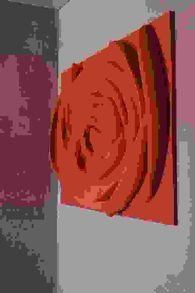 Painel flor Rosa velho Corredores, halls e escadas modernos por Iva Viana Atelier de Escultura Moderno