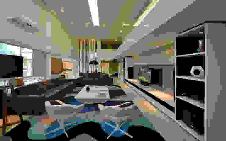 Casa Jabuticaba Salas de estar modernas por Raffo Arquitetura Moderno