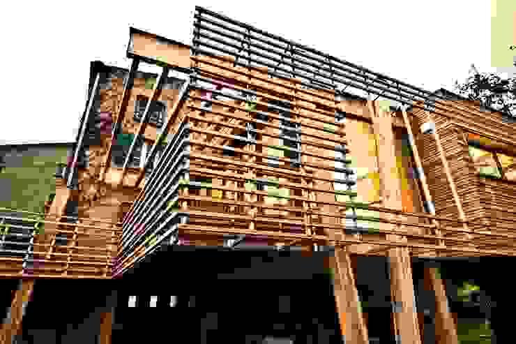 La Maison Mikado Maisons modernes par Hervé DELOUIS Architecte DPLG Moderne