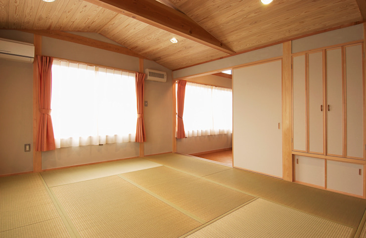 寝室 オリジナルスタイルの 寝室 の 氏原求建築設計工房 オリジナル