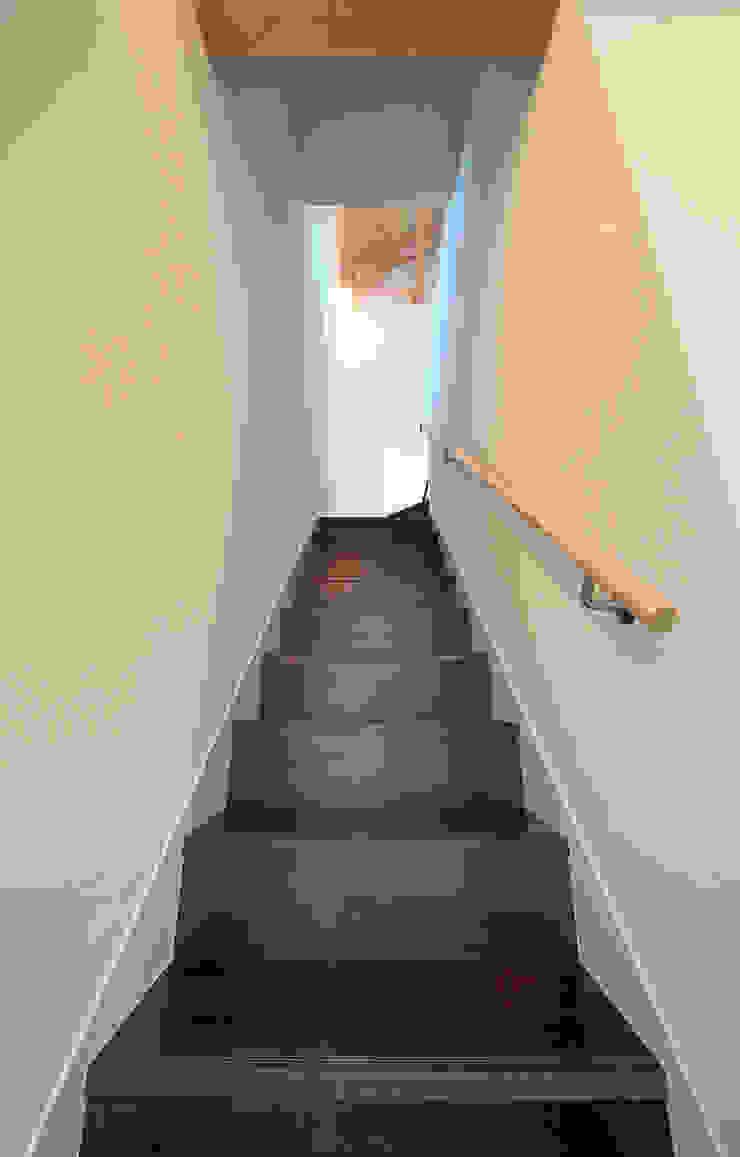 誘惑する階段 モダンスタイルの 玄関&廊下&階段 の 田崎設計室 モダン