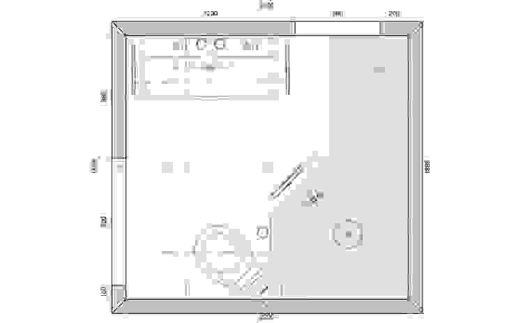 Plattegrond kleine badkamer met inloopdouche van 200x 185cm Sani-bouw Moderne badkamers