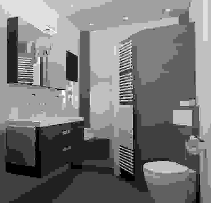 Kleine badkamer met inloopdouche Moderne badkamers van Sani-bouw Modern