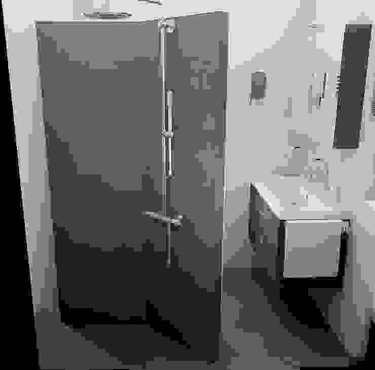 inloopdouche met betegelde douchewand Sani-bouw Moderne badkamers