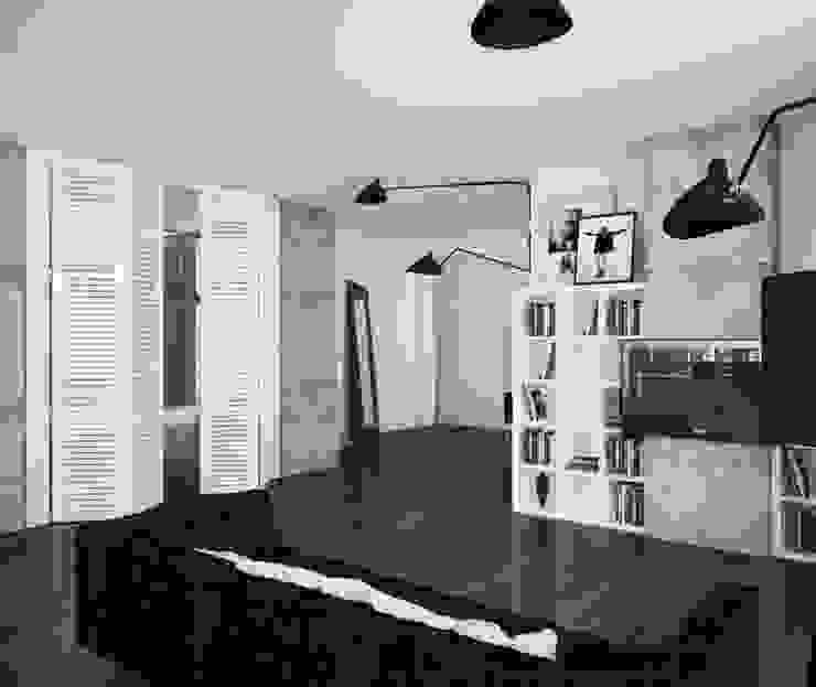 Loft: Гостиная в . Автор – APRIL DESIGN