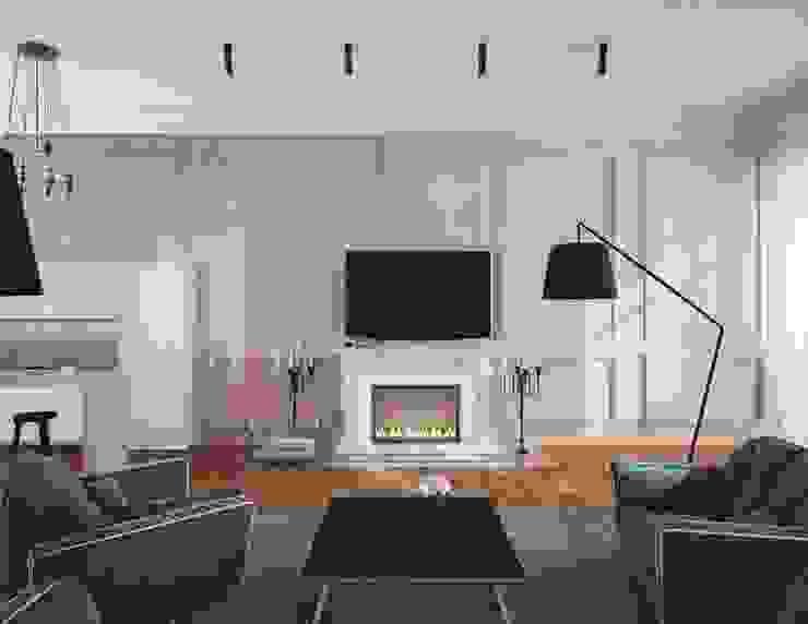Penthouse in St. Petersburg. Гостиная в стиле лофт от APRIL DESIGN Лофт