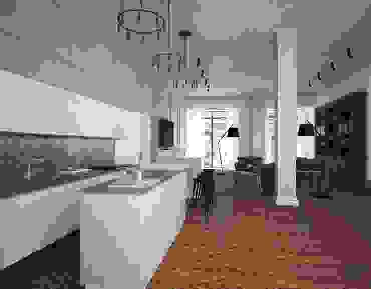 Penthouse in St. Petersburg. Кухня в стиле лофт от APRIL DESIGN Лофт