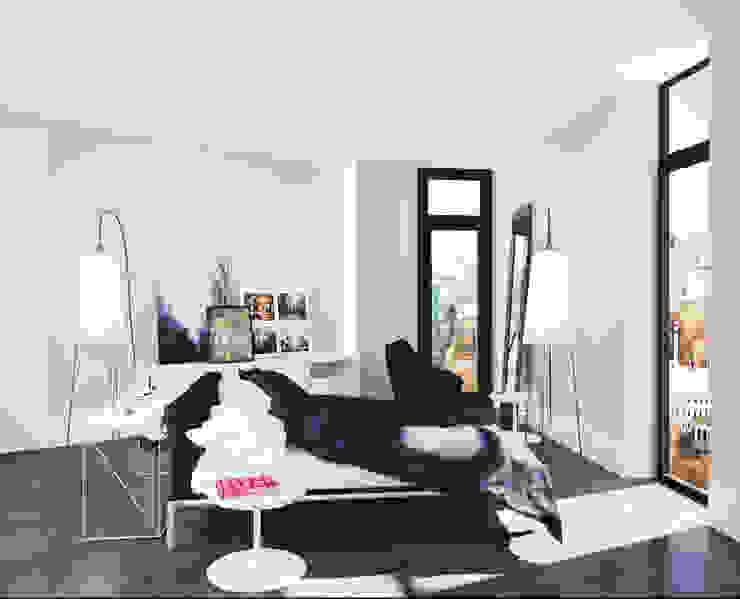 Loft: Спальни в . Автор – APRIL DESIGN