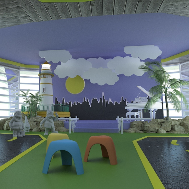 ANAOKULU İÇ MEKAN TASARIM PROJESİ Modern Okullar Marttasarım iç mimarlık proje uygulama Modern