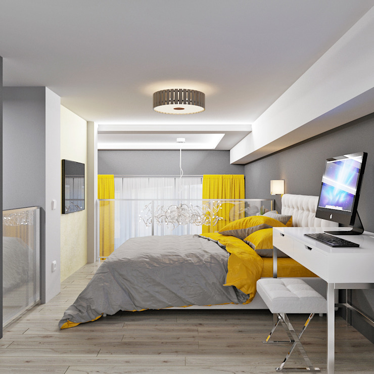 Современный стиль в интерьере Спальня в стиле модерн от Студия дизайна Interior Design IDEAS Модерн