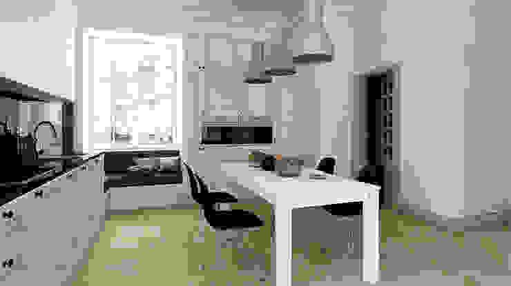 Mieszkanie, Katowice, Wita Stwosza Minimalistyczna kuchnia od musk collective design Minimalistyczny