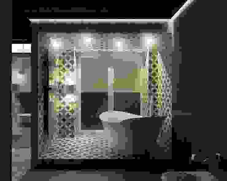 M24 Minimalistyczna łazienka od musk collective design Minimalistyczny