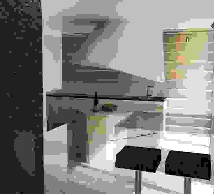 M24 Minimalistyczna kuchnia od musk collective design Minimalistyczny