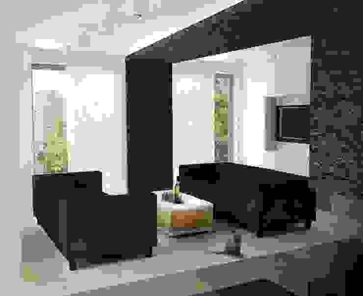 M24 Minimalistyczny salon od musk collective design Minimalistyczny