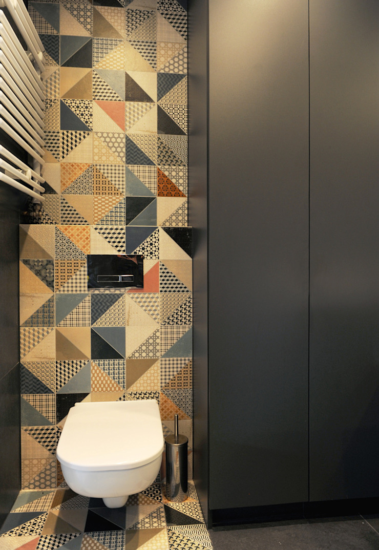 Ванная комната в стиле минимализм от musk collective design Минимализм