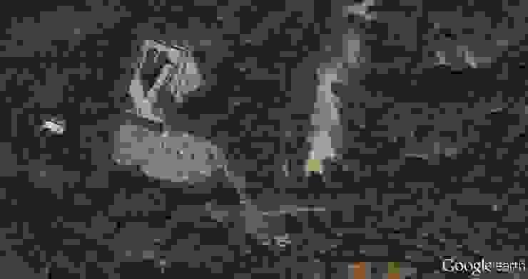 Google Earth foto Moderne exhibitieruimten van BBHD architecten Modern