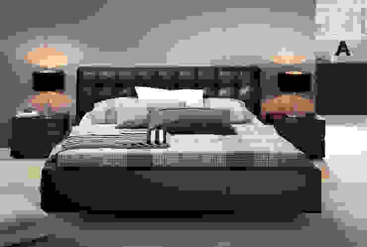Wasserbett mit Bettrahmen in Lederoptik SuMa Wasserbetten GmbH SchlafzimmerBetten und Kopfteile