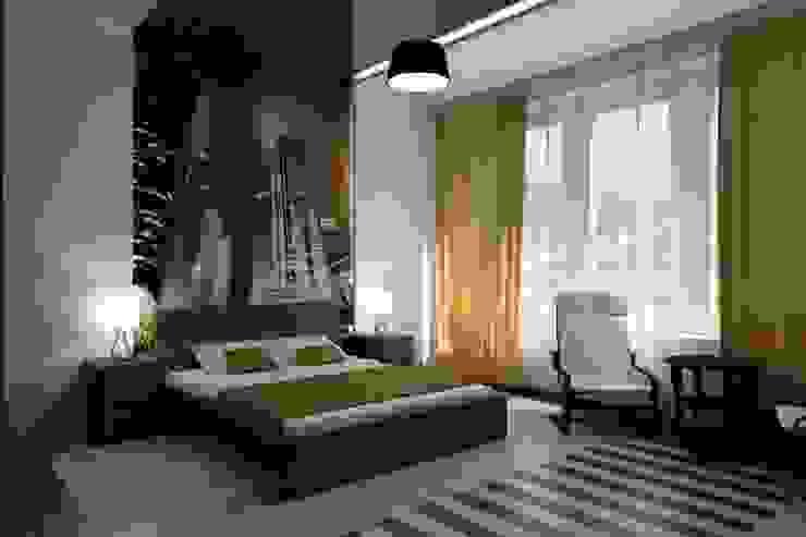 Dormitorios minimalistas de Цунёв_Дизайн. Студия интерьерных решений. Minimalista