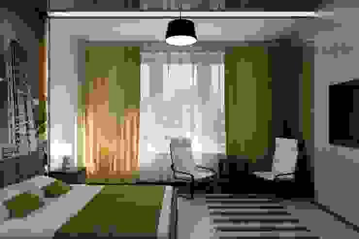 Camera da letto minimalista di Цунёв_Дизайн. Студия интерьерных решений. Minimalista