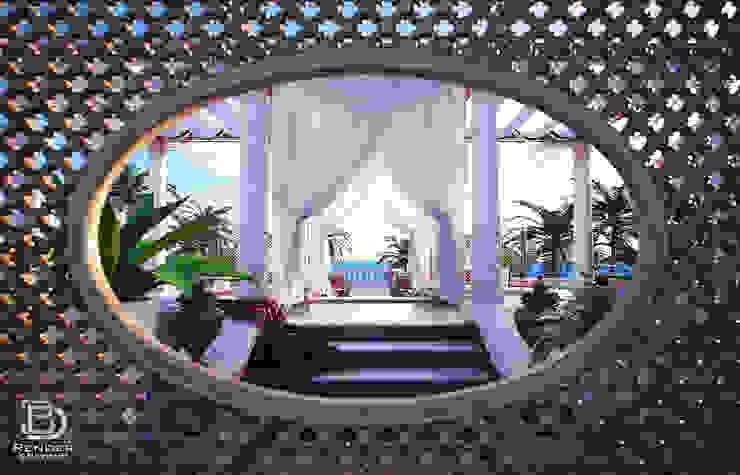 Private Terrace Balcones y terrazas de estilo clásico de 3D Render&Beyond Clásico