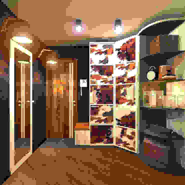Прихожая 1 Коридор, прихожая и лестница в скандинавском стиле от Inna Katyrina & 'A-LITTLE-GREEN' studio interiors Скандинавский